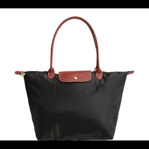 Longchamp large tote in Black NEW